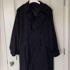 "Men's Black London Fog ""Raleigh"" Trench Coat"